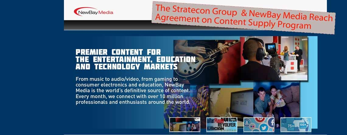 The Stratecon Group & NewBay Media Reach Agreement on Content Supply Program